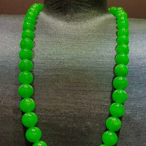 Imperial Green beads Jadeite necklace