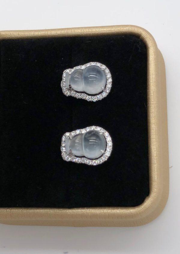 Translucent jade earrings Singapore