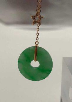 Green coin jade earrings Singapore