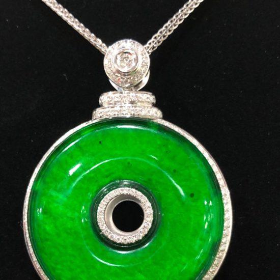 Imperial Green Huaigu Jadeite Pendant